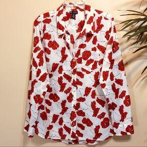 Gap Poppy Boyfriend Shirt